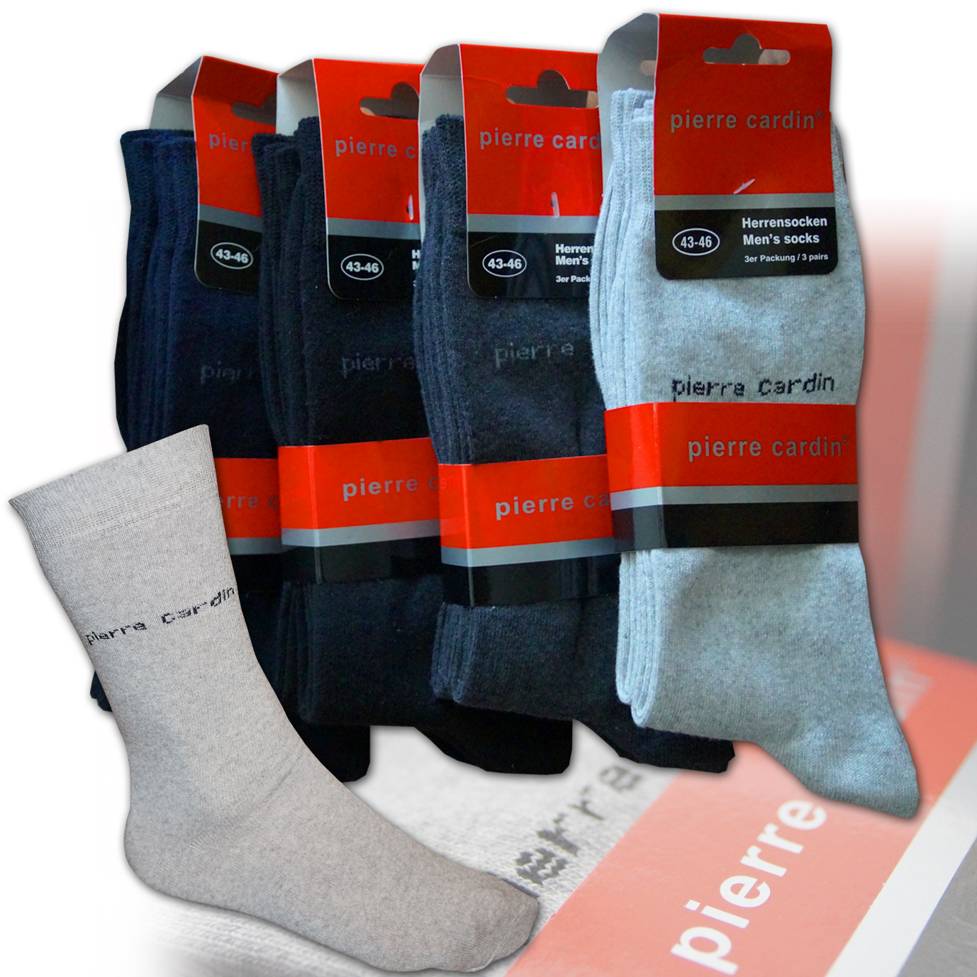 original pierre cardin business socken 9 18 paar herrensocken str mpfe socks men ebay. Black Bedroom Furniture Sets. Home Design Ideas