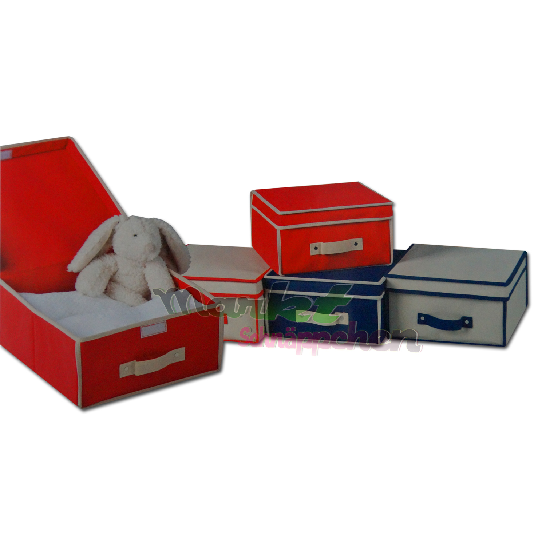 aufbewahrungsbox mit deckel stabil aufbewahrungs beh lter kiste koffer stoff ebay. Black Bedroom Furniture Sets. Home Design Ideas