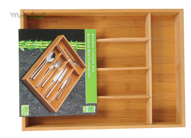bambus besteckkasten schubladeneinsatz besteckeinsatz holz bamboo besteck box ebay. Black Bedroom Furniture Sets. Home Design Ideas