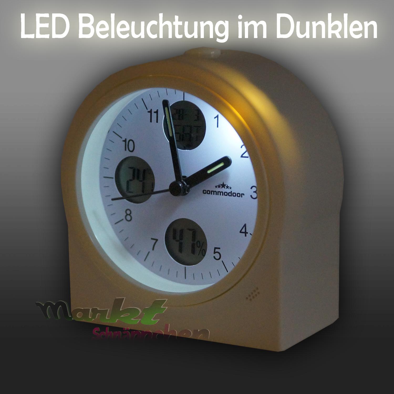 Led funk uhr tischuhr wecker inkl philips batterien for Design funkuhr tisch